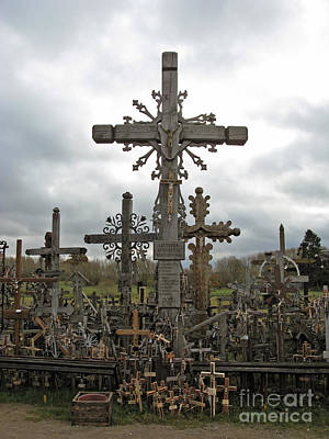 Photograph - Hill Of Crosses 06. Lithuania.  by Ausra Huntington nee Paulauskaite