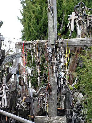 Animal Watercolors Juan Bosco - Hill of Crosses 14. Lithuania by Ausra Huntington nee Paulauskaite