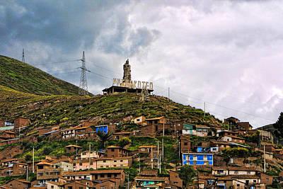 Hill Side Dwellings Peru Art Print