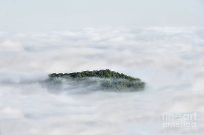 Hill Top Island In The Clouds Art Print by Dan Friend