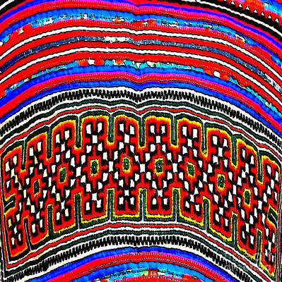 Photograph - Hill Tribe Textile I by Ethna Gillespie