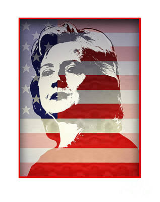 Hillary Clinton Digital Art - Hillary by Chris Van Es