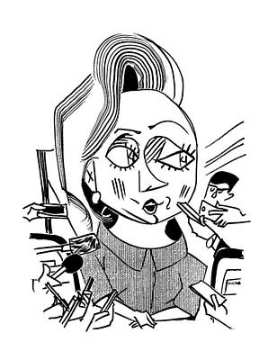 Hillary Drawing - Hillary Clinton Double Standard by Tom Bachtell