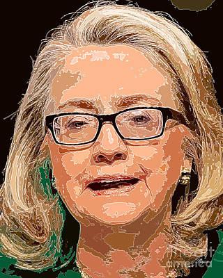 Hillary Clinton Digital Art - Hillary Clinton Portrait by Dalon Ryan
