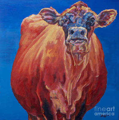 Bovine Animals Painting - Hillary by Patricia A Griffin