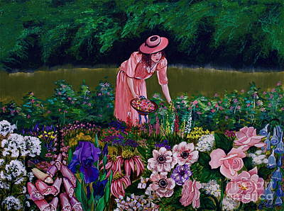 Painting - Hillary's Garden by Linda Simon