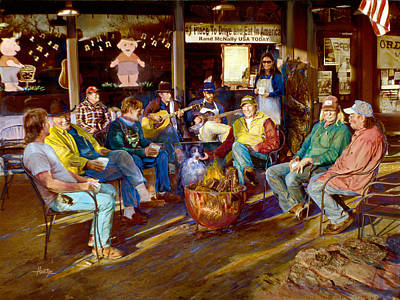 Pucketts Photograph - Hillbilly Happy Hour by Anne Goetze