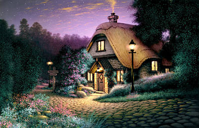 Hillcrest Cottage Art Print by Steve Read