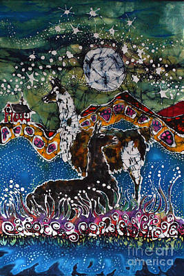 Tapestry - Textile - Hills Alive With Llamas by Carol Law Conklin