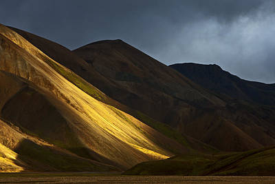 Photograph - Hills At Sunset Landmannalaugar by Heike Odermatt