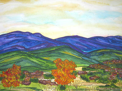 Painting - Hills In Fall by Kerry Bennett