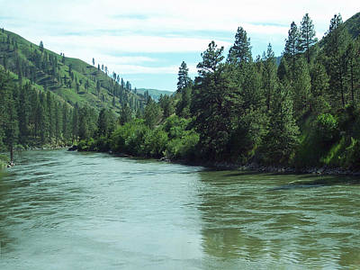 Photograph - Hills Meet River In Idaho by Georgia Hamlin