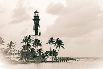 Photograph - Hillsboro Inlet Vintage Lighthouse by Bill Howard
