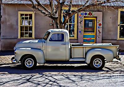 Art Print featuring the painting Hillsboro New Mexico 1949 Gmc 100 by Barbara Chichester