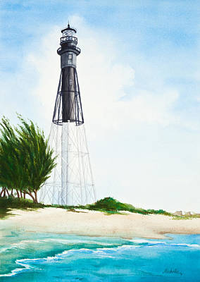 Painting - Hillsboro Point Inlet Florida Lighthouse by Michelle Constantine