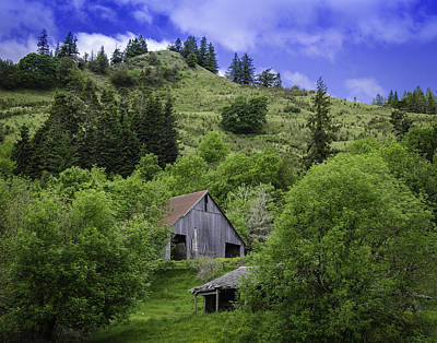 Hillside Barn Art Print by Chris Malone