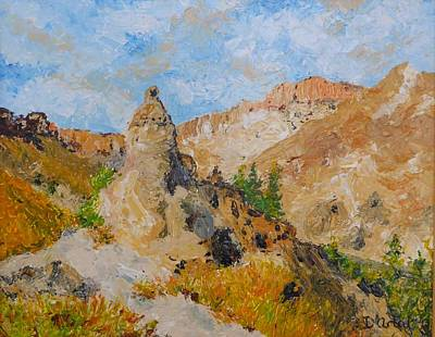 Hillside Church In Cappadocia Art Print