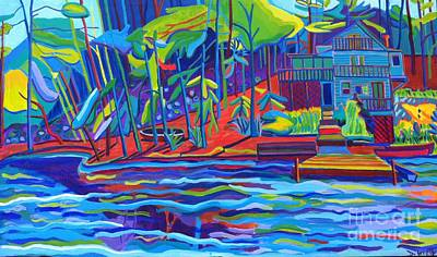 Painting - Hillside Cottage Massapoag Pond by Debra Bretton Robinson