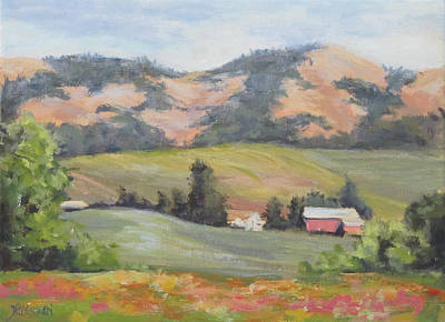 Painting - Hillside Farm by Karen Ilari