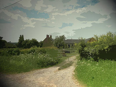Hillside Farm, Pictured Here From The Lane Which Cuts Art Print