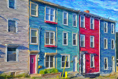 Hillside Newfoundland Houses Art Print by Verena Matthew