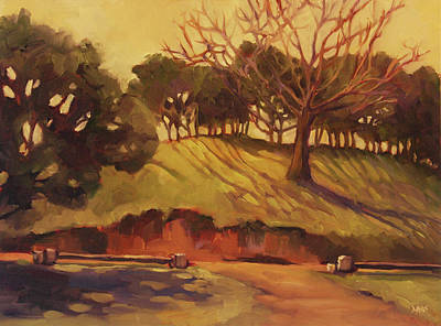 Hillside Art Print by Sue  Darius