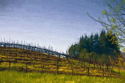 Hills Mixed Media - Hillside Vines by John K Woodruff