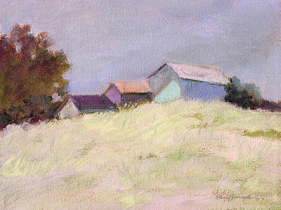 Painting - Hilltop Barns by J Reifsnyder