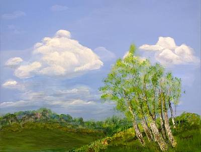 Painting - Hilltop Birches by Peggy King