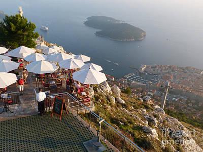 Photograph - Hilltop Cafe - Dubrovnik - Croatia by Phil Banks
