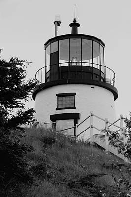 Photograph - Hilltop Light In Black And White by Paul Mangold
