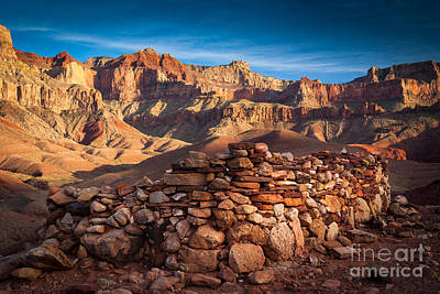Red Rock Photograph - Hilltop Ruin by Inge Johnsson