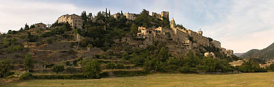Hilltop Town Of Montbrun-les-bains Art Print by Panoramic Images