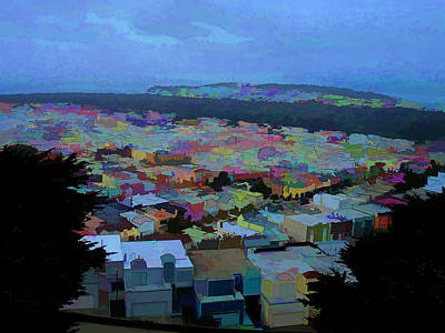 Hilltop View Art Print by Bobbi Mercouri