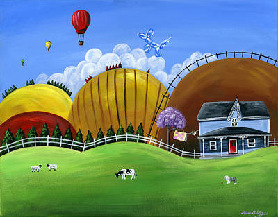 Dog Clothes Painting - Hilly Heights by Brianna Mulvale
