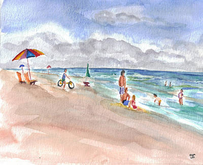 Painting - Hilton Beach Play by Clara Sue Beym