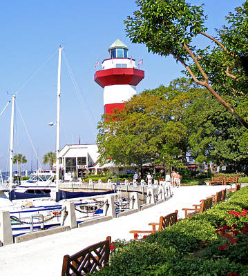 Photograph - Hilton Head Lighthouse And Marina 2 by Duane McCullough
