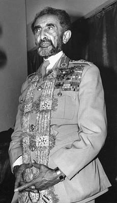 Photograph - Him Emperor Haile Selassie by Errol Wilson