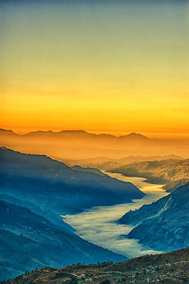 Himalaya In The Morning Light Art Print by Ulrich Schade
