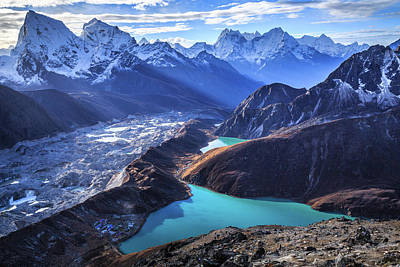 Sunlight Photograph - Himalaya Landscape, Gokyo Ri by Feng Wei Photography