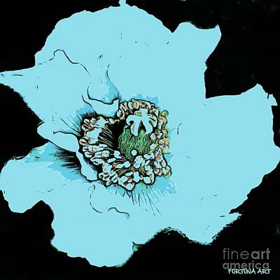 Flower Digital Art - Himalayan Blue Poppy by Dragica  Micki Fortuna