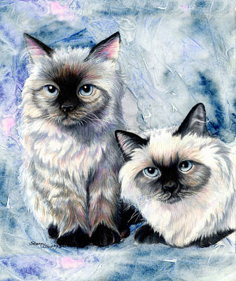 Himalayan Duo Art Print by Sherry Shipley