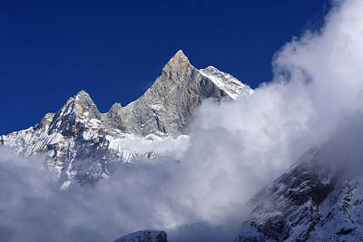 Photograph - Machhapuchchhre Mountain Peak by Aidan Moran