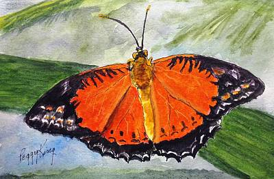 Painting - Himalayan Red Lacewing by Peggy King