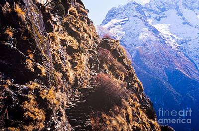 Mountains Photograph - Himalayan Trekking by Tim Hester