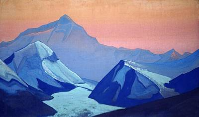 Moscow Painting - Himalayas - Everest by Nicholas Roerich