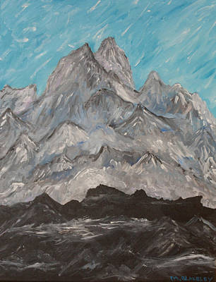 Art Print featuring the painting Himalayas by Martin Blakeley