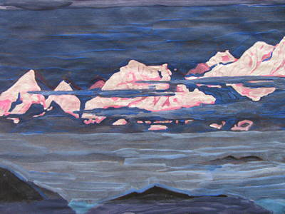 Art Print featuring the painting Himalayas Of India by Vikram Singh