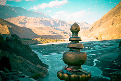 Mukti Photograph - Himalayas Road To Upper Mustang  From Kagbeni by Raimond Klavins