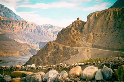 Mukti Photograph - Himalayas Road To Upper Mustang View From Kagbeni by Raimond Klavins